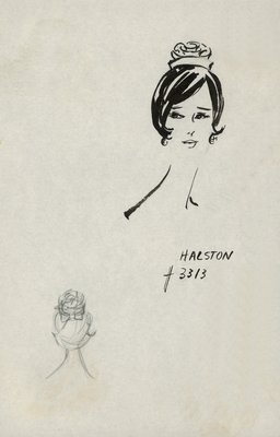 Halston rosette-shaped doll hat