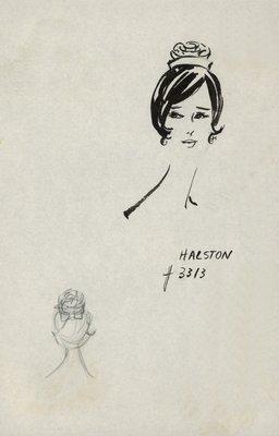 Halston rosette-shaped doll hat
