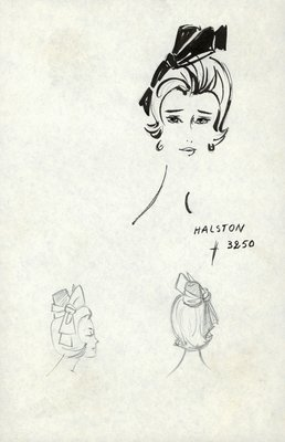 Halston flower-pot shaped doll hat
