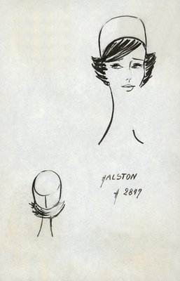 Halston unadorned pillbox