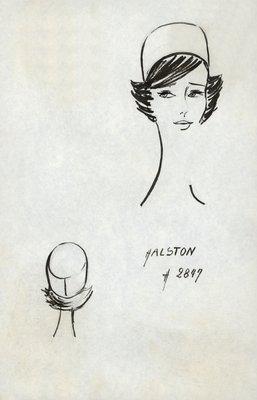 Halston unadorned pillbox
