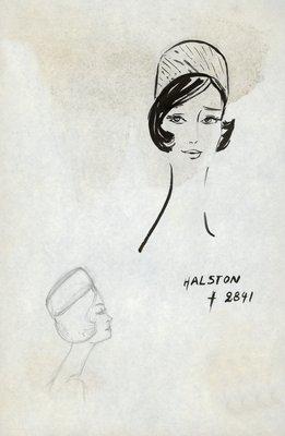 Halston textured pillbox