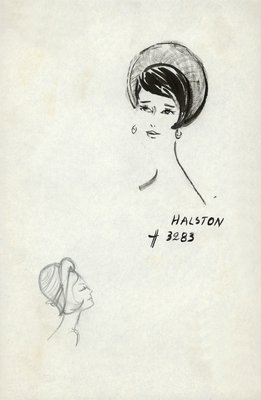 Halston straw cloche with bow