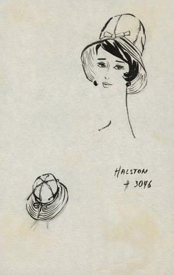 Halston Southwestern-style hat