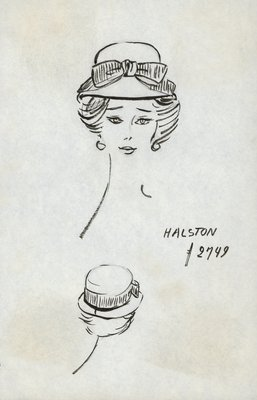 Halston sailor hat with bow
