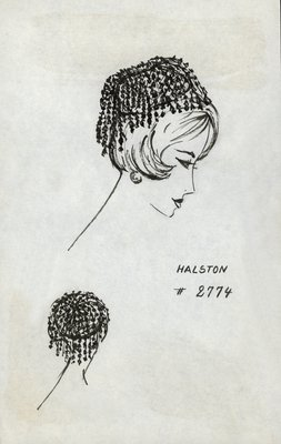 Halston pillbox with nubs