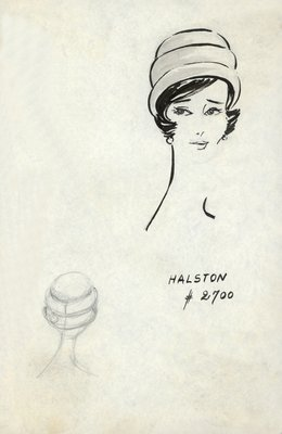 Halston toque of rolled tiers