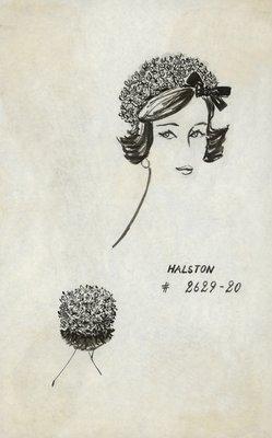 Halston pillbox of tiny flowers