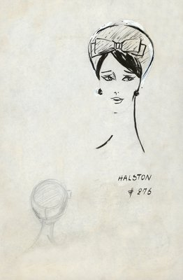 Halston textured fabric toque
