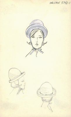 Halston gray hat with ear flaps