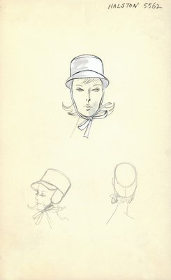 Halston white hat with ear flaps