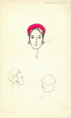 Halston red toque