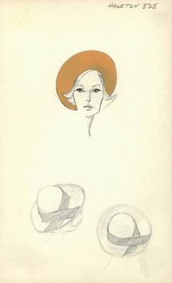Halston butterscotch hat