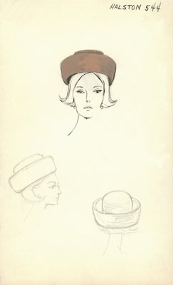 Halston cognac roller with wide brim