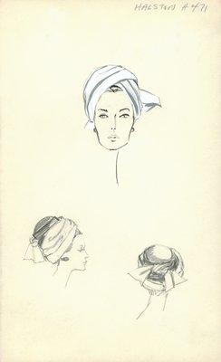 Halston white turban