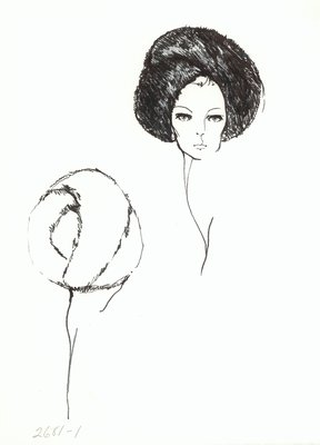 Halston fur turban