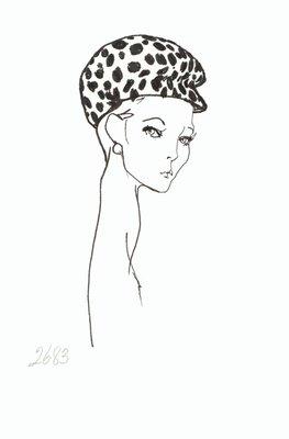 Halston visored cap