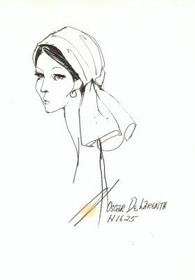Halston scarf hat