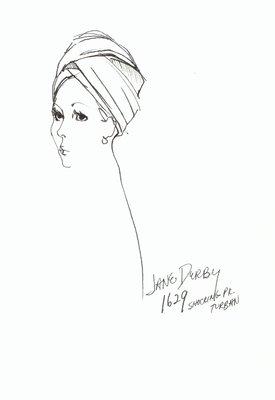 Halston pink turban