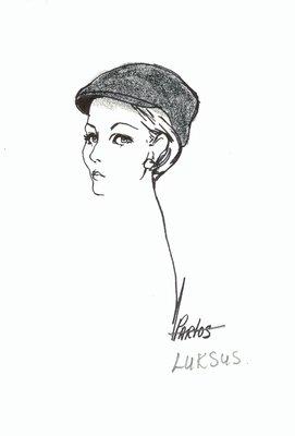 Halston wool touring cap