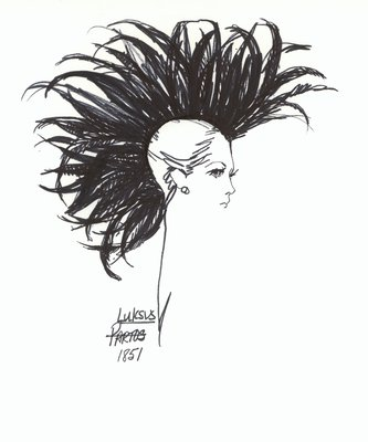 Halston black feathered hat