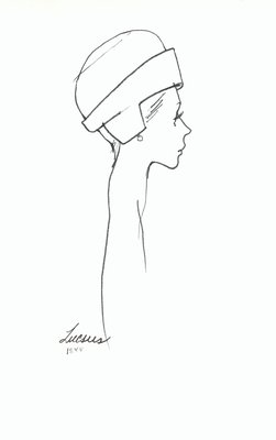 Halston toque with ear flaps
