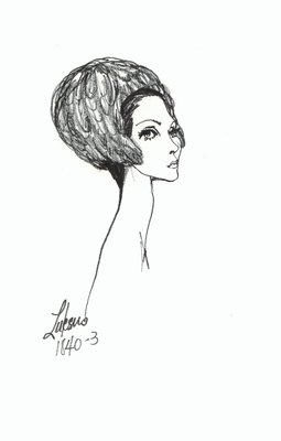 Halston feather casque with ear flaps