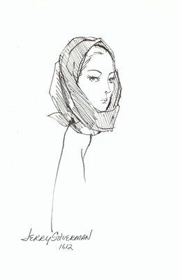 Halston head scarf