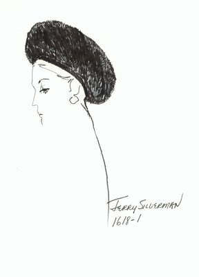 Halston fur Cossack hat