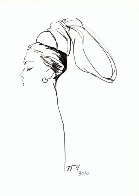 Halston doll hat with bow