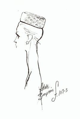 Halston patterned pillbox