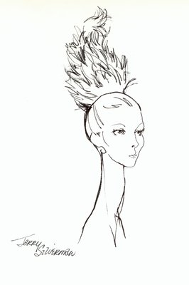Halston doll hat of feathers
