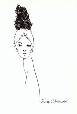 Halston doll hat of flowers