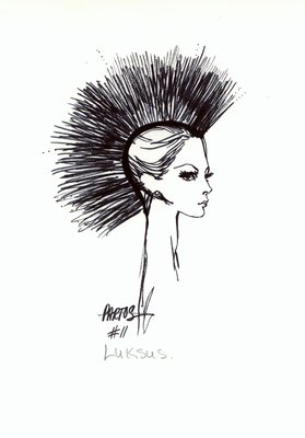Halston hat of black feathers