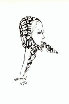 Halston fabric helmet