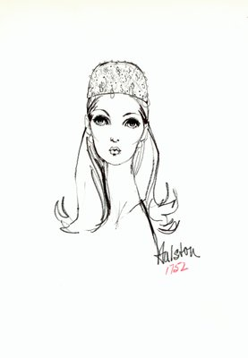 Halston jeweled toque