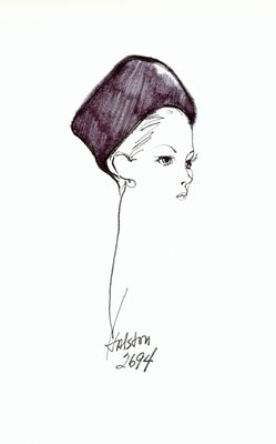 Halston fur toque