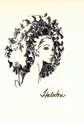 Halston net snood with petals