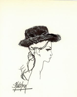 Halston fur hat
