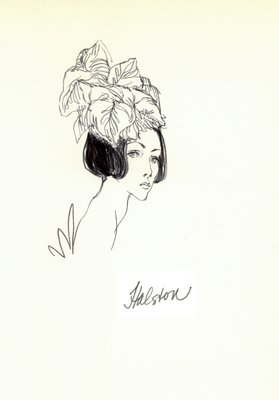 Halston hat of leaves