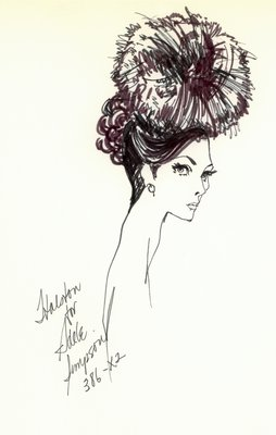 Halston cocktail hat of quills