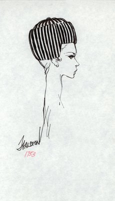 Halston striped toque with earflaps