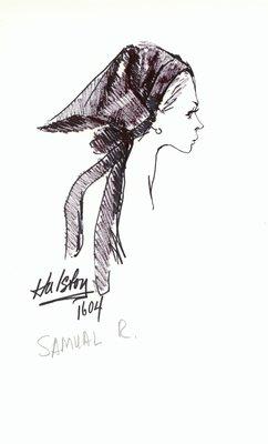 Halston kerchief hat