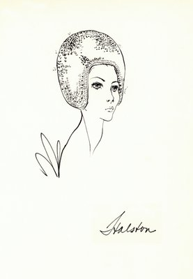 Halston sequined helmet