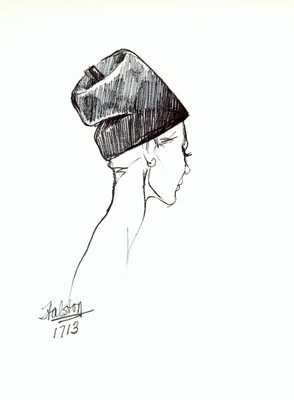 Halston soft toque