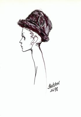 Halston fur Tyrolean hat