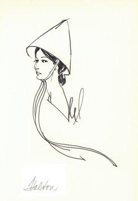 Halston conical hat