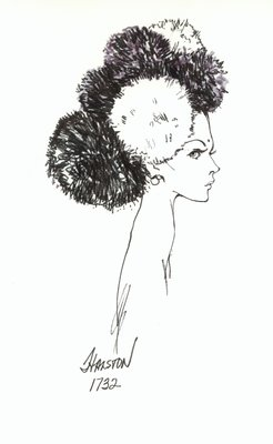 Halston snood with pompoms