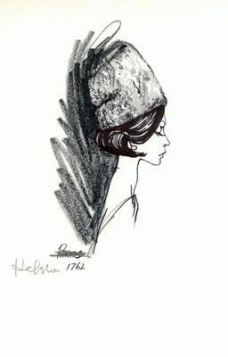 Halston curly fur toque
