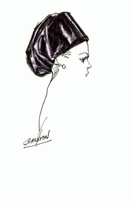 Halston black toque